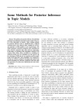 Some methods for posterior inference in topic models