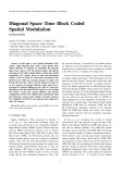 Diagonal space time block coded spatial modulation