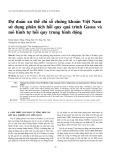 Dự đoán xu thế chỉ số chứng khoán Việt Nam sử dụng phân tích hồi quy quá trình Gauss và mô hình tự hồi quy trung bình động