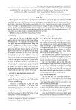 Nghiên cứu các phương thức phòng trừ cỏ dại trong canh tác giống lúa nếp cạn Khẩu Nua Trạng tại tỉnh Hà Giang