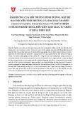 Ảnh hưởng của môi trường dinh dưỡng, mật độ ban đầu đến sinh trưởng của hai loài tảo biển Chaetoceros muelleri, Tetraselmis suecica và thử nghiệm nuôi sinh khối trong điều kiện ánh sáng tự nhiên ở Thừa Thiên Huế