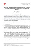 Factors influencing online shopping intention: An extension of the technology acceptance model
