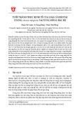 Tuổi thành thục kinh tế của loài cây Keo tai tượng (Acacia mangium) tại vùng Đông Bắc Bộ