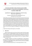 Xây dựng bộ tiêu chí và đánh giá đặc điểm nông sinh học cây địa liền (Kaempferia galangal) tại Thừa Thiên Huế