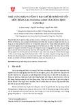 Khả năng kháng nấm và hạn chế bệnh héo rũ gốc mốc trắng lạc (Sclerotium rolfsii) của dung dịch nano bạc