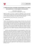 Competitiveness of export wood products in Binh Dinh province in the market integration