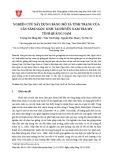 Nghiên cứu xây dựng bảng mô tả tính trạng của cây sâm Ngọc Linh tại huyện Nam Trà My tỉnh Quảng Nam