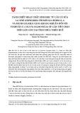 Tách chiết hoạt chất sinh học từ cây cỏ sữa lá nhỏ (Euphorbia thymifolia Burm. (L.)) và đánh giá khả năng kháng khuẩn đối với vi khuẩn E. coli và Salmonella sp. gây tiêu chảy trên lợn con tại tỉnh Thừa Thiên Huế