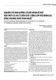 Nghiên cứu ảnh hưởng của độ nhám bề mặt nền thép C45 và CT3 đến chất lượng lớp phủ nhôm (Al) bằng phương pháp phun nhiệt