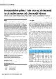 Áp dụng mô hình quỹ phát triển khoa học và công nghệ tại các trường đại học khối công nghệ ở Việt Nam