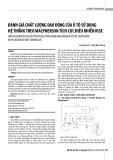Đánh giá chất lượng dao động của ô tô sử dụng hệ thống treo Macpherson tích cực điều khiển RISE