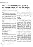 Nâng cao chất lượng đào tạo nhân lực kế toán Việt Nam trong bối cảnh cách mạng công nghiệp 4.0