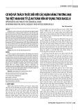 Cơ hội và thách thức đối với các ngân hàng thương mại tại Việt Nam khi tỷ lệ an toàn vốn áp dụng theo Basel II