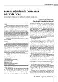 Đánh giá hiệu năng của chip đa nhân với các cấp cache