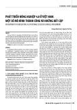 Phát triển nông nghiệp 4.0 ở Việt Nam: Một số mô hình thành công và những bất cập
