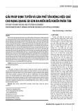 Giải pháp định tuyến và gán phổ tần động hiệu quả cho mạng quang SD-EON đa miền điều khiển phân tán