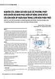 Nghiên cứu, đánh giá hiệu quả các phương pháp điều khiển bộ khôi phục điện áp động (DVR) để bù lồi lõm điện áp ngắn hạn trong lưới điện phân phối