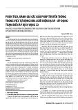 Phân tích, đánh giá các giải pháp truyền thông trong việc tự động hóa lưới điện hạ áp - áp dụng trạm biến áp Dịch Vọng 22