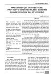 Đánh giá hiệu quả kỹ thuật nuôi cá nước ngọt ở huyện Phù Mỹ, tỉnh Bình Định bằng phương pháp bao dữ liệu (DEA)