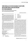 Thiết kế bộ lọc CIC và FIR cho modul thu vô tuyến SDR sử dụng công cụ Matlab Simulink và System Generator