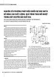 Nghiên cứu phương pháp điều khiển dự báo Smith để nâng cao chất lượng quá trình trao đổi nhiệt trong dây chuyền sản xuất bia
