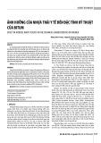 Ảnh hưởng của nhựa thải y tế đến đặc tính kỹ thuật của bitum