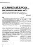 Chế tạo và khảo sát tính chất vật liệu polyme nanocompozit trên cơ sở polyetylen tỷ trọng cao (HDPE) với ống nano cacbon đa tường (MWCNT)