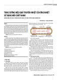 Tăng cường hiệu quả truyền nhiệt của ống nhiệt sử dụng môi chất nano