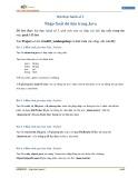 Bài thực hành Lập trình Java 2 - Bài thực hành 3: Nhập - Xuất dữ liệu trong Java