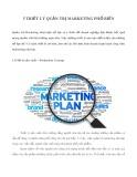 5 triết lý quản trị Marketing phổ biến