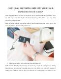 5 mẹo quản trị thương hiệu cực kì hiệu quả dành cho doanh nghiệp