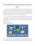 5 phút hiểu tất tần tật Marketing Automation từ A-Z