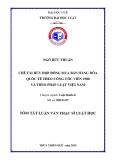 Tóm tắt Luận văn thạc sĩ Luật học: Chế tài Hủy hợp đồng mua bán hàng hóa quốc tế theo Công ước viên 1980 và theo pháp luật Việt Nam