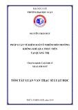 Tóm tắt Luận văn thạc sĩ Luật học: Pháp luật về kiểm soát ô nhiễm môi trường không khí qua thực tiễn tại tỉnh Quảng Trị