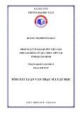 Tóm tắt Luận văn thạc sĩ Luật học: Pháp luật về giải quyết việc làm cho lao động nữ, qua thực tiễn tại tỉnh Quảng Bình