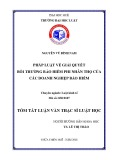 Tóm tắt Luận văn thạc sĩ Luật học: Pháp luật về giải quyết bồi thường bảo hiểm phi nhân thọ của các Doanh nghiệp Bảo hiểm