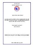 Tóm tắt Luận văn thạc sĩ Luật học: Bảo hộ quyền sở hữu công nghiệp đối với chỉ dẫn địa lý đáp ứng yêu cầu Hiệp định Thương mại tự do Việt Nam EU (EVFTA)