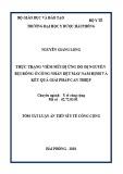 Tóm tắt Luận án tiến sĩ Y tế công cộng: Thực trạng viêm mũi dị ứng do dị nguyên bụi bông ở công nhân dệt may Nam Định và kết quả giải pháp can thiệp