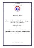 Tóm tắt Luận văn thạc sĩ Luật học: Bảo vệ quyền chủ nợ của tổ chức tín dụng theo pháp luật Việt Nam