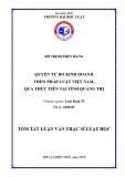 Tóm tắt Luận văn thạc sĩ Luật học: Quyền tự do kinh doanh theo pháp luật Việt Nam qua thực tiễn tại tỉnh Quảng trị