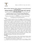 Efficacy of foliar application of micro nutrients on growth and flowering of Gerbera jamesonii L