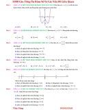 5000 câu tổng ôn Hàm số và các vấn đề liên quan