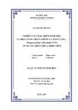 Luận án tiến sĩ Sinh học: Nghiên cứu đặc điểm sinh học và khả năng nhân giống cá Ong căng – Terapon jarbua (Forsskål, 1775) vùng ven biển Thừa Thiên Huế