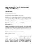 Pháp luật quốc tế về quyền tiếp cận công lý và thực tiễn ở Việt Nam