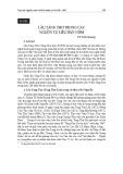 Lầu Tàng Thơ trong các nguồn tư liệu Hán Nôm