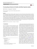 Precomputing architecture for flexible and efficient big data analytics