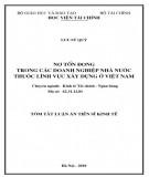 Tóm tắt luận án Tiến sĩ Kinh tế: Nợ tồn đọng trong các doanh nghiệp nhà nước thuộc lĩnh vực xây dựng ở Việt Nam