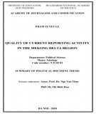 Summary of Political Doctrine thesis: Quality of current reporting activity in the Mekong delta region