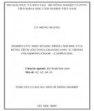 Tóm tắt luận án Tiến sĩ Nông nghiệp: Nghiên cứu một số đặc điểm lâm học của rừng tếch (Tectona Grandis Linn. F) trồng ở Kampong Cham - Campuchia