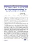 Phân rã năng suất và hiệu quả phân bổ của các doanh nghiệp ngành chế tác của Việt Nam theo loại hình sở hữu